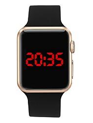 Недорогие -Муж. электронные часы Цифровой силиконовый Светодиодная лампа Цифровой На каждый день Мода - Черный Зеленый Светло-синий