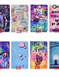 cheap -Case For Samsung Galaxy Samsung Tab A 10.1(2019)T510 Card Holder / Shockproof / with Stand Full Body Cases sky / Cartoon / Feathers Hard PU Leather