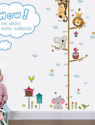 cheap -Animals Wall Stickers Animal Wall Stickers Height Stickers, PVC Home Decoration Wall Decal Wall Decoration 1pc / Removable 90*30cm