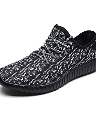 cheap -Men's Comfort Shoes Tissage Volant Spring & Summer / Fall & Winter Sporty / Preppy Athletic Shoes Running Shoes / Fitness & Cross Training Shoes Breathable Black / Dark Grey / Gray