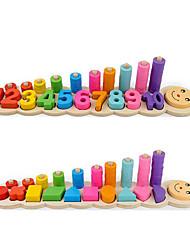 Недорогие -Игры с блоками Башни из деревянных блоков Геометрический узор Ручная работа Взаимодействие родителей и детей Числа Дерево / Бамбук Детские Все Игрушки Подарок