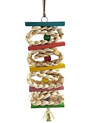 cheap -Bird Perches & Ladders Pet Friendly Focus Toy Felt / Fabric Toys Parrot Wood 7 cm