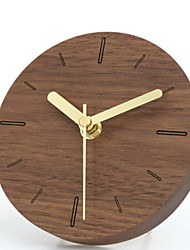 Недорогие -часы настольные часы современные современные деревянные круглые