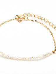 cheap -Women's Pearl Chain Bracelet Classic Vertical / Gold bar Artistic Fashion Alloy Bracelet Jewelry Gold For Daily Holiday