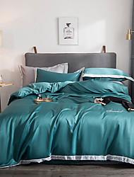 cheap -Solid Colored Silk / Cotton Handmade 4 PieceBedding Sets / 400