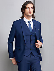 cheap -Tuxedos Slim Fit Notch Single Breasted One-button Polyester / Cotton Blend Solid Colored / Classic