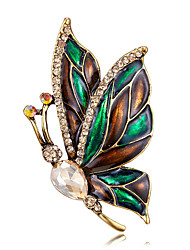 cheap -Men's Women's Brooches Retro Butterfly Artistic Fashion Brooch Jewelry Yellow and Green For Party Festival