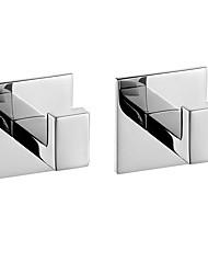 cheap -Robe Hook New Design / Self-adhesive / Creative Contemporary / Modern Metal 2pcs - Bathroom Wall Mounted