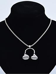 abordables -Collier Pendentif Homme Dorée Noir Argent 60 cm Colliers Tendance Bijoux 1pc pour Cadeau Festival