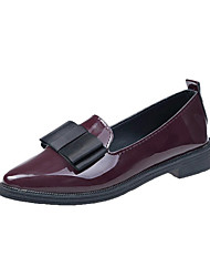 cheap -Women's PU(Polyurethane) Spring &  Fall Flats Low Heel Black / Burgundy