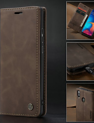 cheap -caseme case for samsung galaxy a30(2019) / a40(2019) / a50(2019) / a70(2019) retro pu leather flip wallet phone case card slots with stand shockproof hard cover