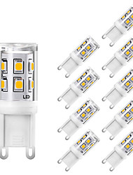 cheap -10pcs Mini G9 LED Corn Lamps Ceramic 220V 2W 15 LEDs SMD 2835 Replace 25W Incandescent Light White Warm White For Home Office Crystal Chandelier Lighting