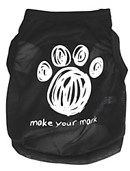 cheap -Vest Puppy Clothes Word / Phrase Quotes & Sayings Ordinary Casual / Sporty Dog Clothes Puppy Clothes Dog Outfits Black Costume for Girl and Boy Dog Polyester XS S M L