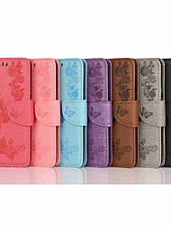 cheap -Case For OnePlus OnePlus 6 / One Plus 7 / One Plus 7 Pro Wallet / Card Holder / Flip Full Body Cases Butterfly / Solid Colored Hard PU Leather