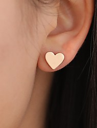 cheap -Women's Fuchsia Stud Earrings Vintage Style Heart Simple Vintage Fashion Cute Earrings Jewelry Gold For Gift Daily Street Festival 1 Pair