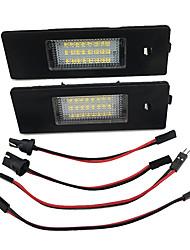 cheap -2pcs Car LED License Number Plate Light No Error Leds Trunk Lamp for BMW E87 E81 E63 E64 E85 E86 F12