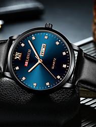 cheap -Men's Dress Watch Quartz Black / Blue / Green 30 m New Design Casual Watch Analog Casual Fashion - Blue Silver / Black Black / Blue One Year Battery Life
