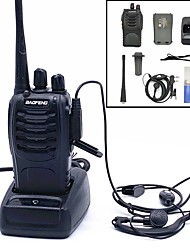 cheap -Baofeng BF-888S Rechargeable Long Range 5W Two Way Radio Walkie Talkies 16 Channel Handheld Radio Built in LED Torch Microphone With Earpiece(Pack of 6) 6 Pack USB Programming Cable