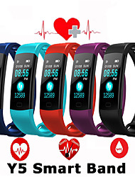cheap -Y5 Smart Band Watch Color Screen Wristband Heart Rate Activity Fitness tracker Smart Electronics Bracelet