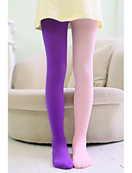 cheap -1 Pair Kids Girls' Sweet Solid Colored Stylish Polyester Socks & Stockings Blue / Purple / Yellow One-Size