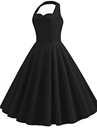 cheap -Audrey Hepburn Retro Vintage 1950s Dress Masquerade Women's Costume Black / Ink Blue / Red Vintage Cosplay Party