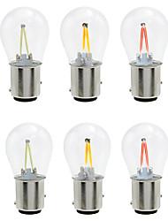 cheap -6pcs 1156 / 1157 Car Light Bulbs 2 W COB 160 lm 2 LED Turn Signal Lights / Brake Lights / Reversing (backup) Lights For universal All years