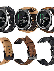 cheap -Genuine Leather Retro Wristband Wrist Strap Watch band For Garmin Forerunner 645 / Vivoactive 3 / Forerunner 245M / 245 / Vivomove HR Smart Watch