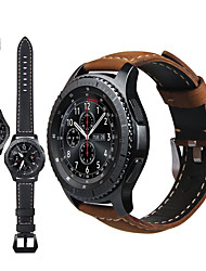 cheap -Genuine Leather Retro Wristband Wrist Strap Watch band For Samsung Galaxy Watch 46mm / Gear S3 Classic / Frontier Smart Watch