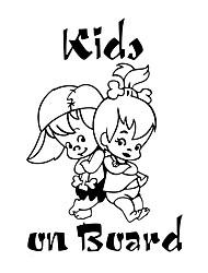 Недорогие -милые дети на борту мультфильм предупреждение автомобиль стикер окна украшения виниловые наклейки