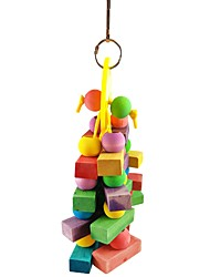 cheap -Bird Perches & Ladders Pet Friendly Focus Toy Felt / Fabric Toys Parrot Wood 12 cm