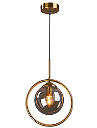cheap -1-Light 25 cm Crystal / Creative Chandelier Metal Glass Circle Electroplated LED / Modern 110-120V / 220-240V