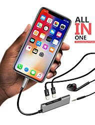 cheap -Portable Dual Lightning Adapter Splitter Lightning to 3.5 mm Headphone Jack Adapter for iPhone 8 X