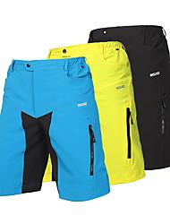 cheap -Arsuxeo Men's Cycling MTB Shorts Spandex Polyester Bike Shorts Baggy Shorts MTB Shorts Breathable Quick Dry Anatomic Design Sports Patchwork Light Yellow / Black / Light Blue Mountain Bike MTB Road