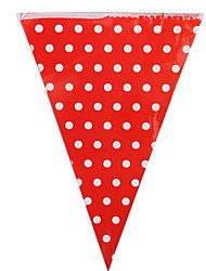 cheap -Holiday Decorations Holidays & Greeting Pull Flag Party Red 1pc