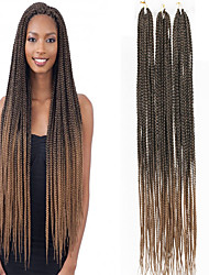 cheap -Braiding Hair Straight Twist Braids Crochet Hair Braids Synthetic Extentions Synthetic Hair 3 pack Hair Braids Natural Color 30 inch 30 inches Synthetic Ombre Braiding Hair Crochet Braids Christmas