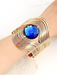 cheap -Women's Blue Champagne Resin Cuff Bracelet Geometrical Happy Casual / Sporty Fashion Alloy Bracelet Jewelry Blue / Champagne For Gift Daily