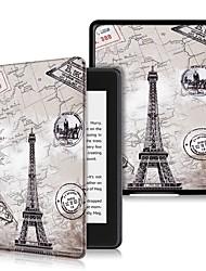 Недорогие -Кейс для Назначение Amazon Kindle Lite (2019) / Kindle PaperWhite 4 2018 Защита от удара / Флип / Ультратонкий Чехол Пейзаж Твердый Кожа PU