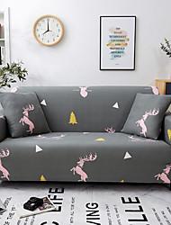 abordables -Housse de canapé Housses en polyester avec imprimé cerf rose