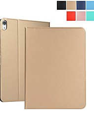 cheap -Case For Apple iPad (2018) /New Air(2019) Auto Sleep / Wake Up  Full Body Cases Solid Colored Hard PU Leather for iPad 2/3/4/iPad Pro 9.7''/Pro 10.5''/iPad (2017)/iPad Air/Air 2/iPad mini 1/2/3/4/5