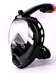 cheap -Snorkel Mask Full Face Mask Single Window - Diving Silicone - For Adults Black / Leak-Proof / Anti Fog