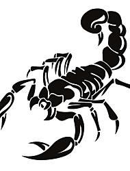 abordables -Blanc / Noir / Jaune Autocollant pour auto Dessin Animé Autocollants de capot Animal Autocollants