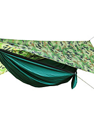 cheap -Military Hammock Tent with Anti Mosquito Net Camping Hammock with Mosquito Net Outdoor Waterproof Portable Waterproof Material 300D Polyester for 1 person Hunting Fishing Green 260*90 cm
