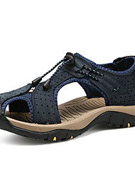 cheap -Men's Hiking Shoes Breathable Comfortable Travel Walking Summer Black Brown Brown+Gray Blue