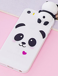 cheap -Cute Panda Matte Silicone Case for iPhone 11 SE2020 11 Pro MaxCartoon 3D Animal Pattern Ultra Slim Soft Rubber Back Cover Shockproof Anti Scratch Flexible TPU Protective Phone Case
