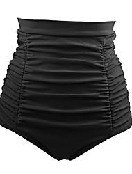 cheap -Women's Basic White Black Red Cheeky High Waist Bottoms Swimwear - Solid Colored XL XXL XXXL White