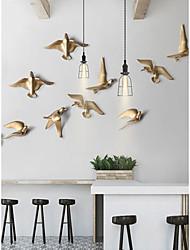 cheap -Bird Wall Decor Special Material Animals / Pastoral Wall Art, Metal Wall Art / Wall Signs Decoration