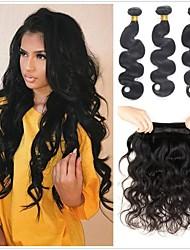 Недорогие -6 Связок Бразильские волосы Естественные кудри Не подвергавшиеся окрашиванию 300 g Человека ткет Волосы Пучок волос One Pack Solution 8-28 дюймовый Естественный цвет Ткет человеческих волос