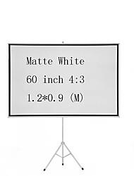 Недорогие -4:3 60 дюймовый MaxWhite Экран на штативе
