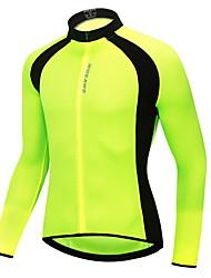 Недорогие -WOSAWE Муж. Жен. Длинный рукав Велокофты Черный Зеленый Сплошной цвет Большие размеры Велоспорт Джерси Верхняя часть Дышащий Влагоотводящие Быстровысыхающий Виды спорта 100% полиэстер