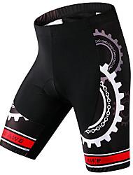 cheap -WOSAWE Men's Cycling Padded Shorts Spandex Bike Padded Shorts / Chamois Pants Bottoms Sports Black Mountain Bike MTB Road Bike Cycling Clothing Apparel Advanced Relaxed Fit Bike Wear / Stretchy